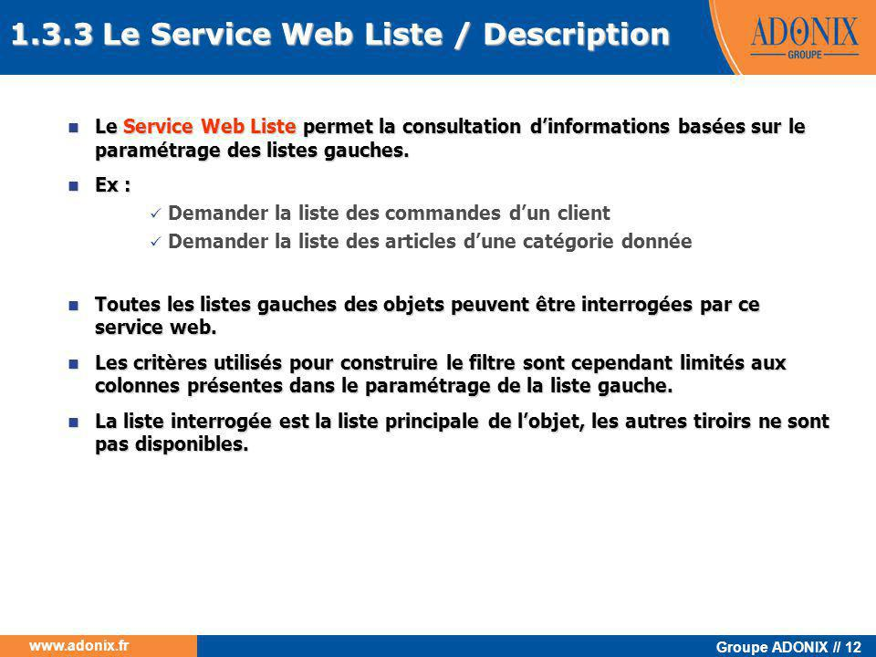 1.3.3 Le Service Web Liste / Description