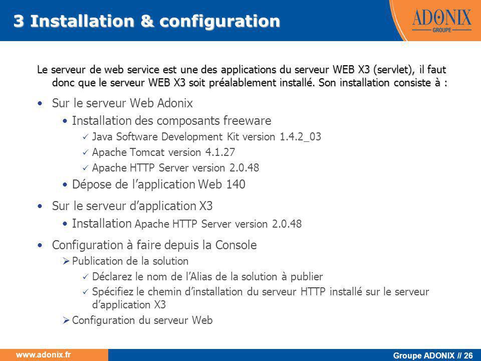 3 Installation & configuration