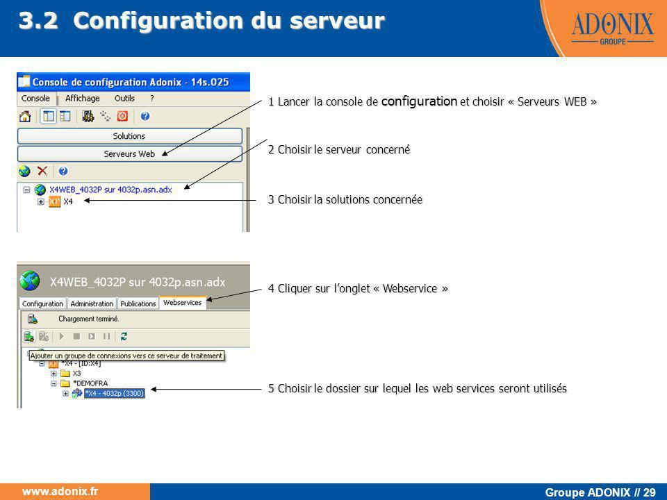 3.2 Configuration du serveur