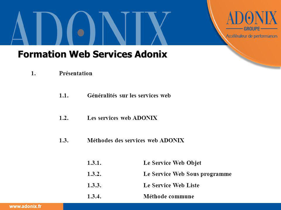 Formation Web Services Adonix