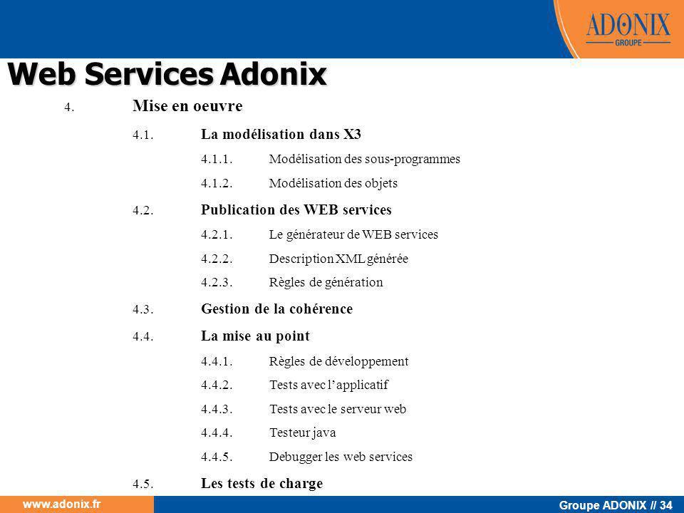 Web Services Adonix 4. Mise en oeuvre 4.1. La modélisation dans X3