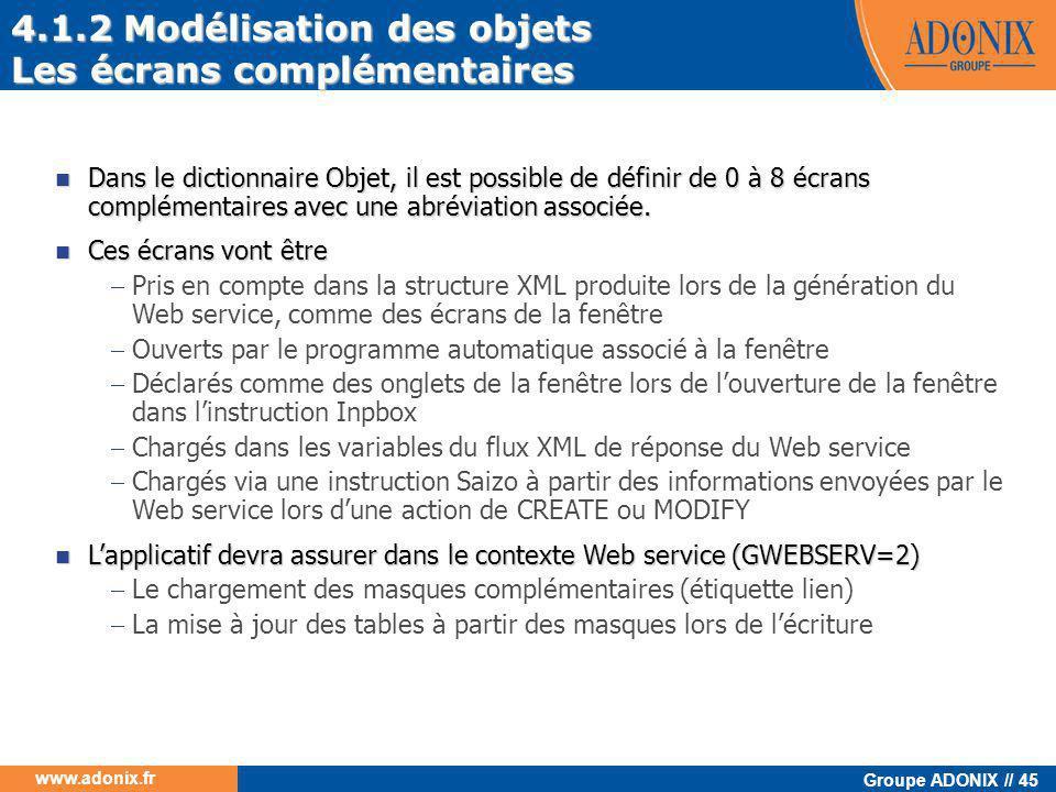 4.1.2 Modélisation des objets Les écrans complémentaires