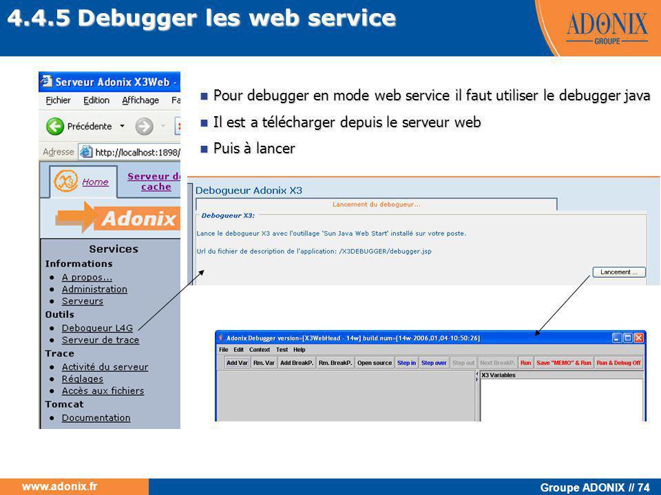 4.4.5 Debugger les web service