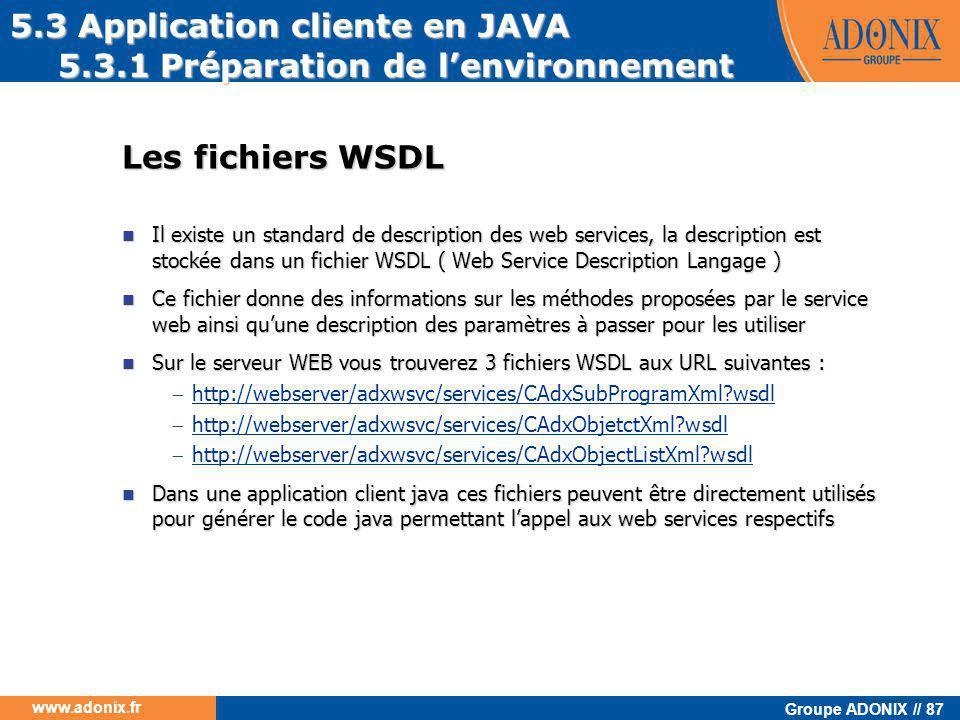 5.3 Application cliente en JAVA 5.3.1 Préparation de l'environnement