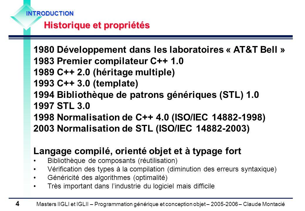 1980 Développement dans les laboratoires « AT&T Bell »