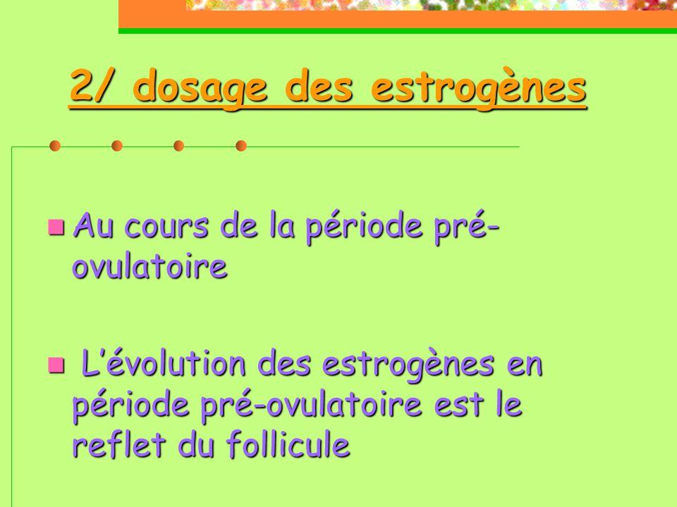 2/ dosage des estrogènes