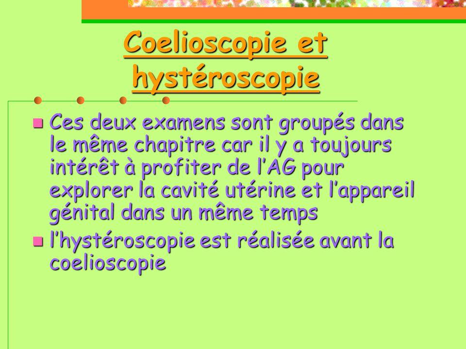 Coelioscopie et hystéroscopie