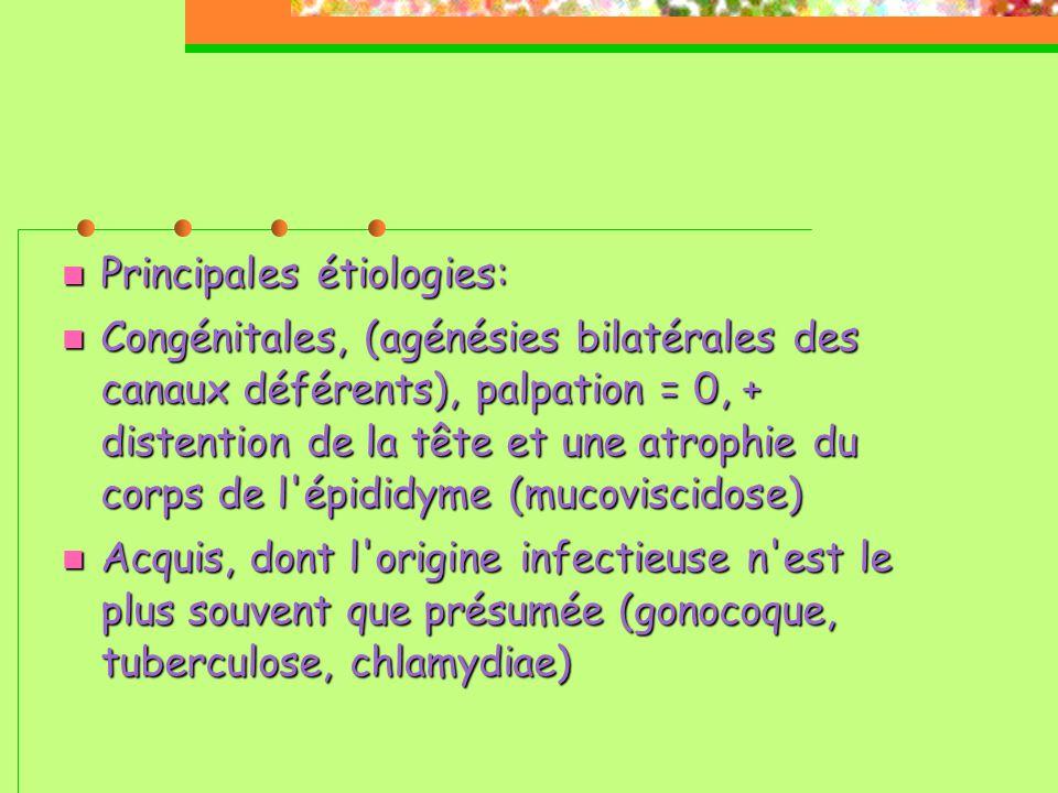 Principales étiologies: