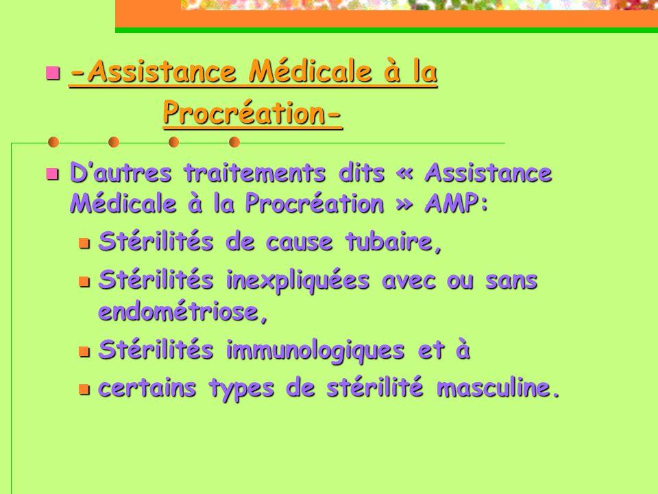 -Assistance Médicale à la Procréation-