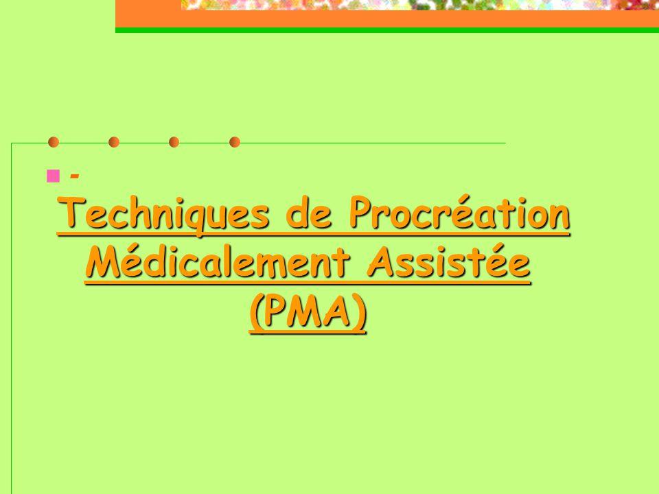 Techniques de Procréation Médicalement Assistée (PMA)