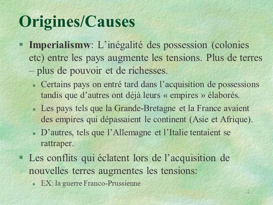 Origines/Causes