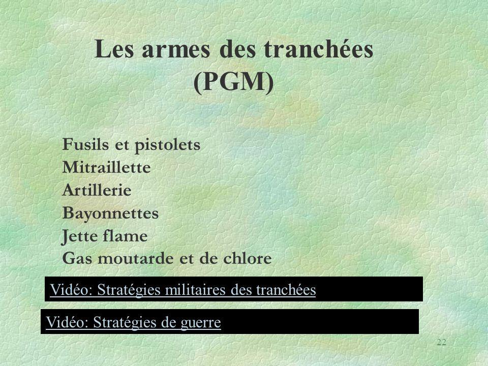 Les armes des tranchées (PGM)