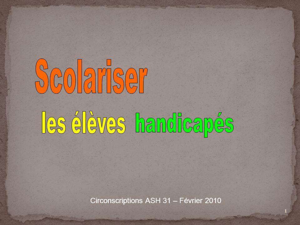 Circonscriptions ASH 31 – Février 2010
