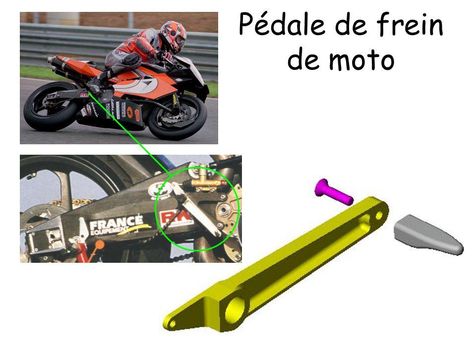 Pédale de frein de moto