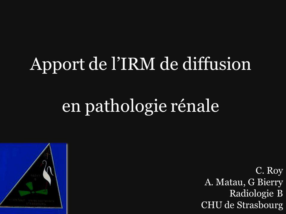 Apport de l'IRM de diffusion en pathologie rénale