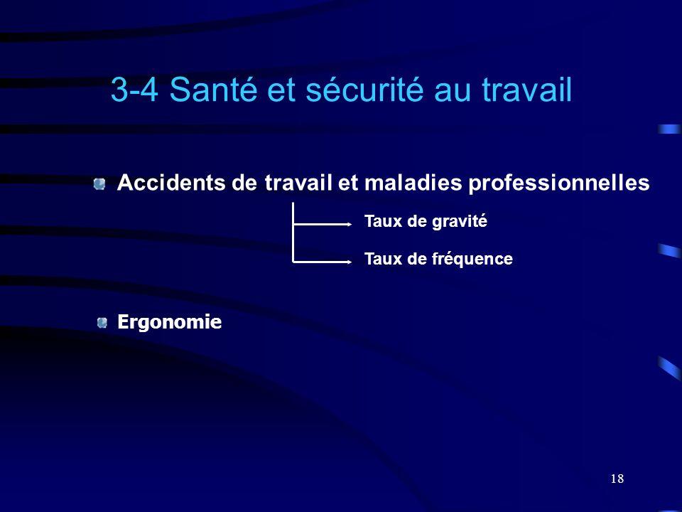 3-4 Santé et sécurité au travail