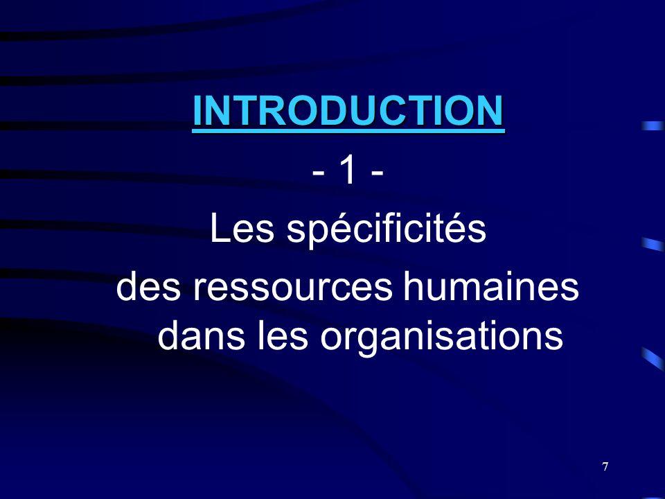 des ressources humaines dans les organisations
