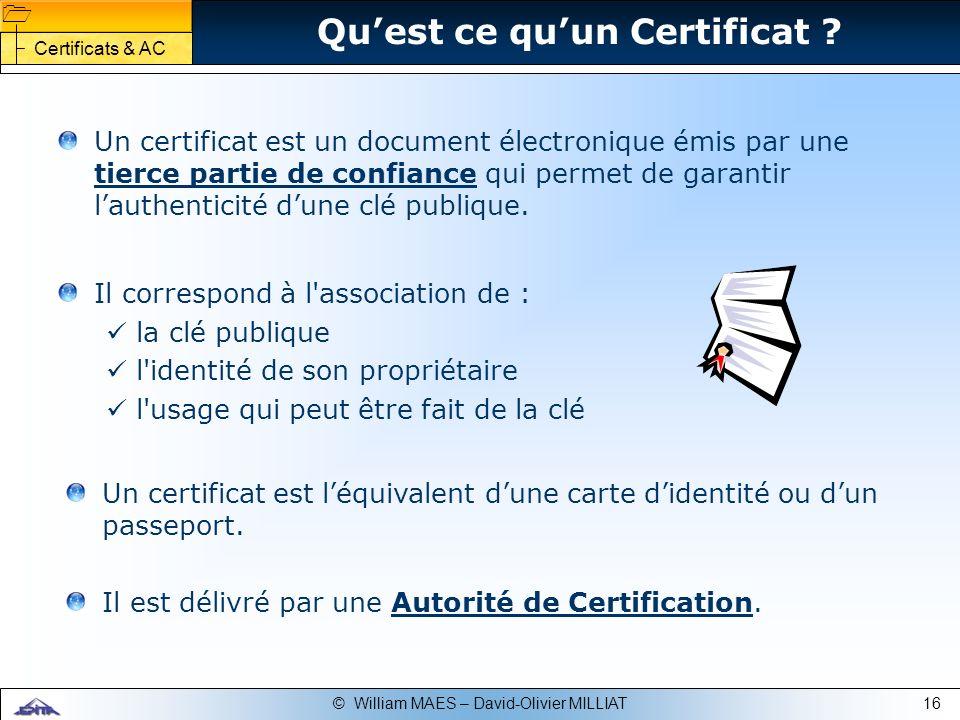 Qu'est ce qu'un Certificat