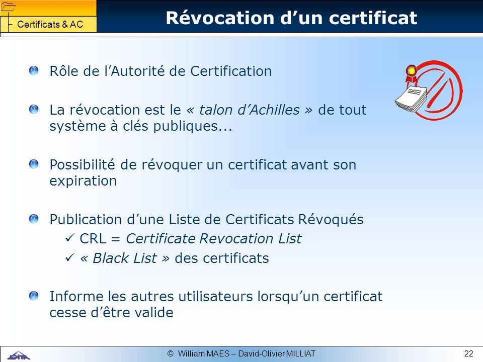 Révocation d'un certificat