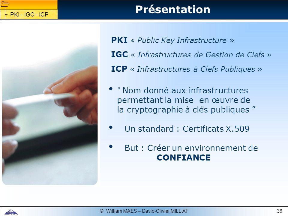 Présentation PKI « Public Key Infrastructure »