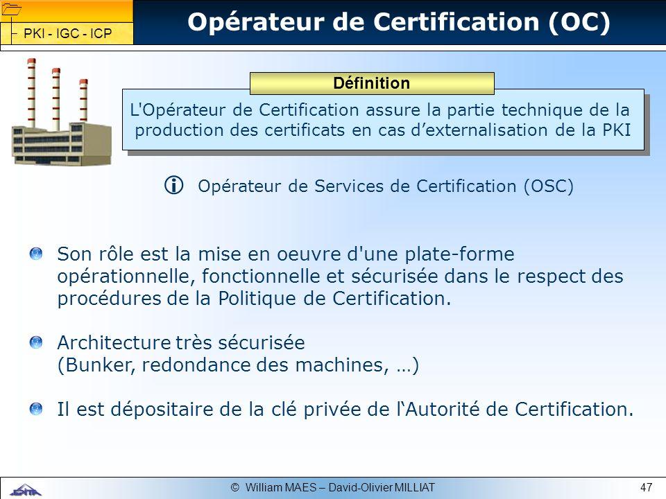 Opérateur de Certification (OC)