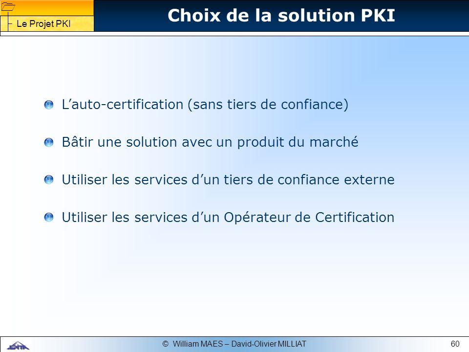 Choix de la solution PKI