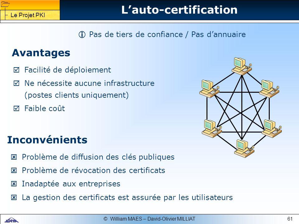 L'auto-certification