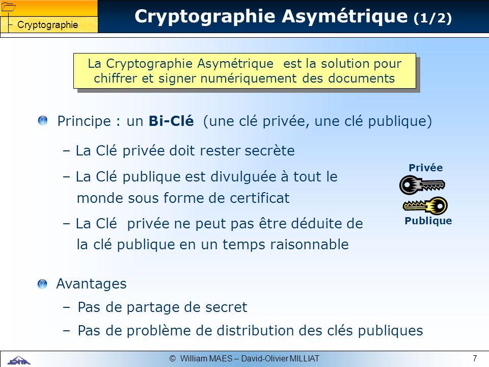 Cryptographie Asymétrique (1/2)