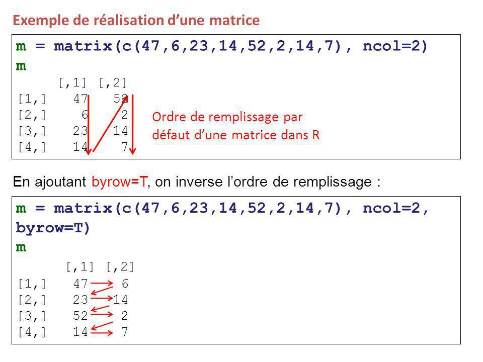 Exemple de réalisation d'une matrice