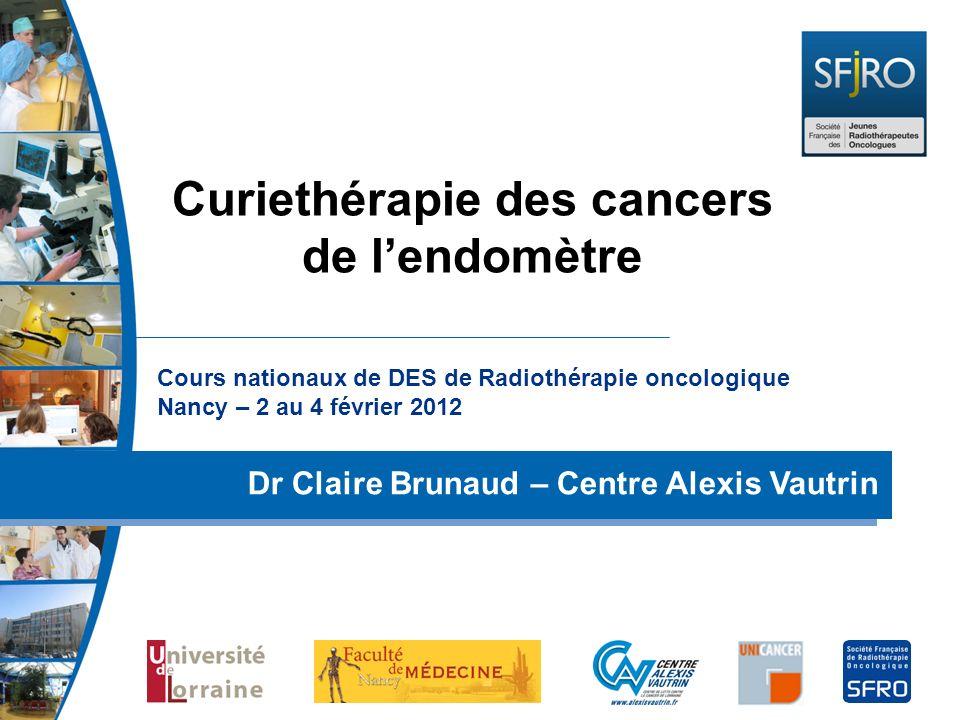 Curiethérapie des cancers de l'endomètre
