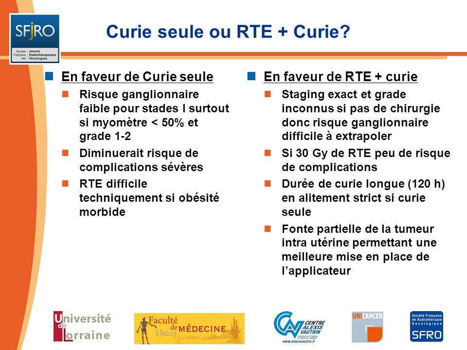 Curie seule ou RTE + Curie