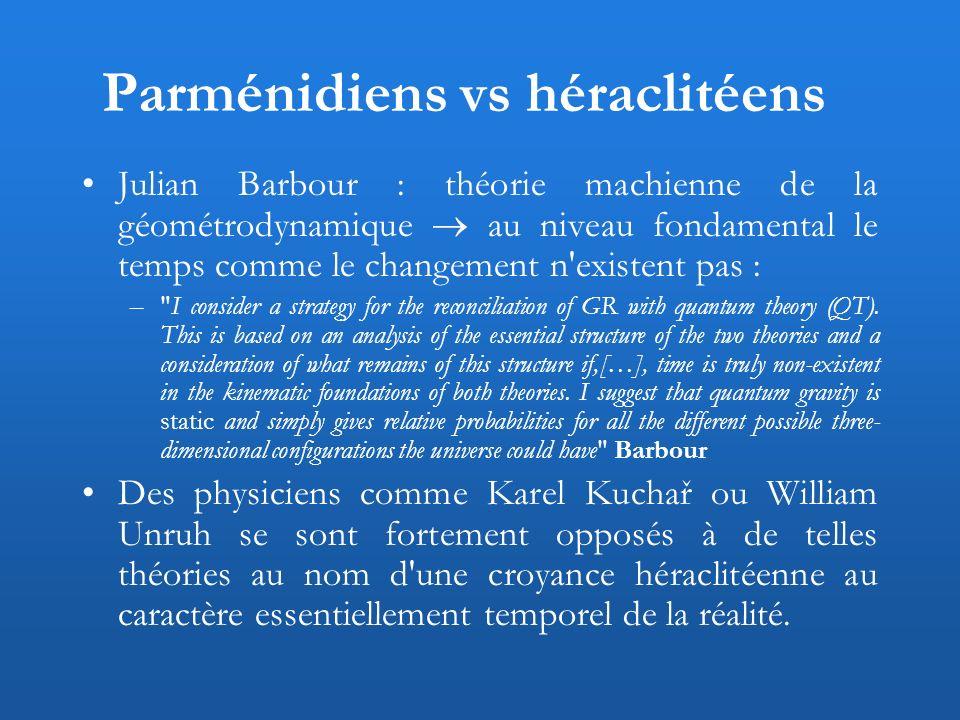Parménidiens vs héraclitéens