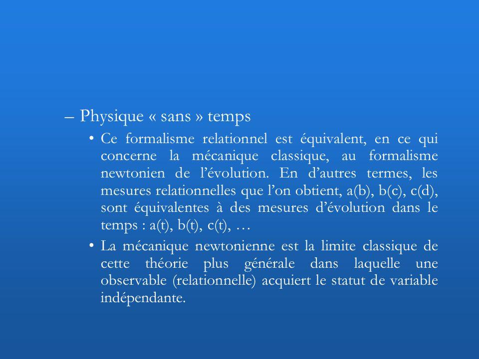 Physique « sans » temps