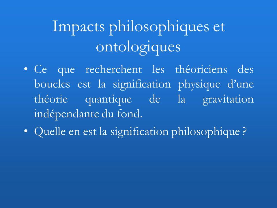Impacts philosophiques et ontologiques
