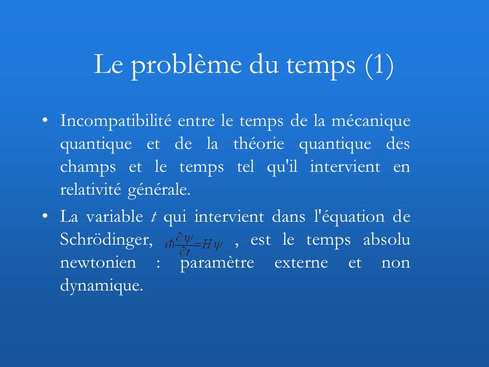 Le problème du temps (1)