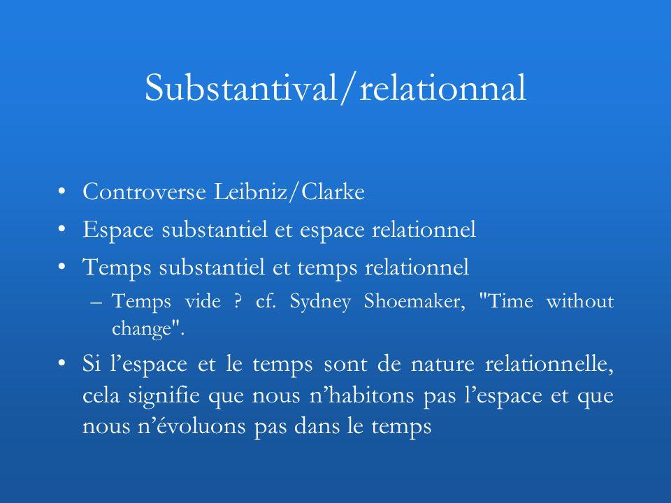 Substantival/relationnal