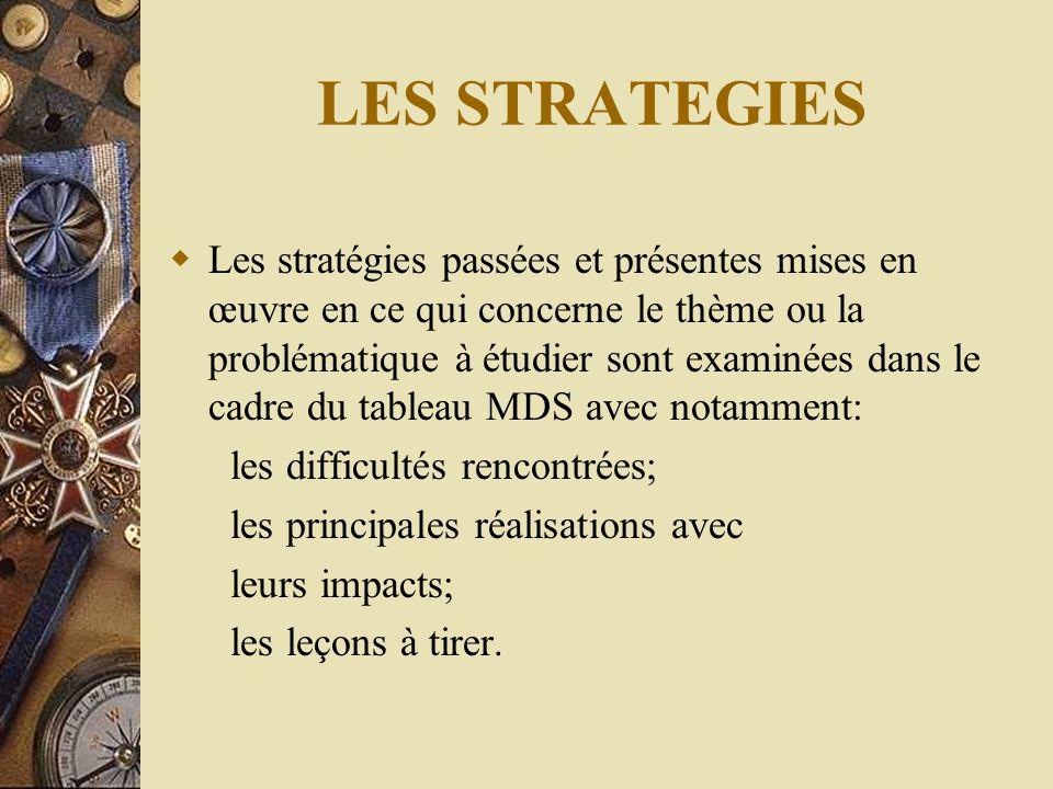 LES STRATEGIES