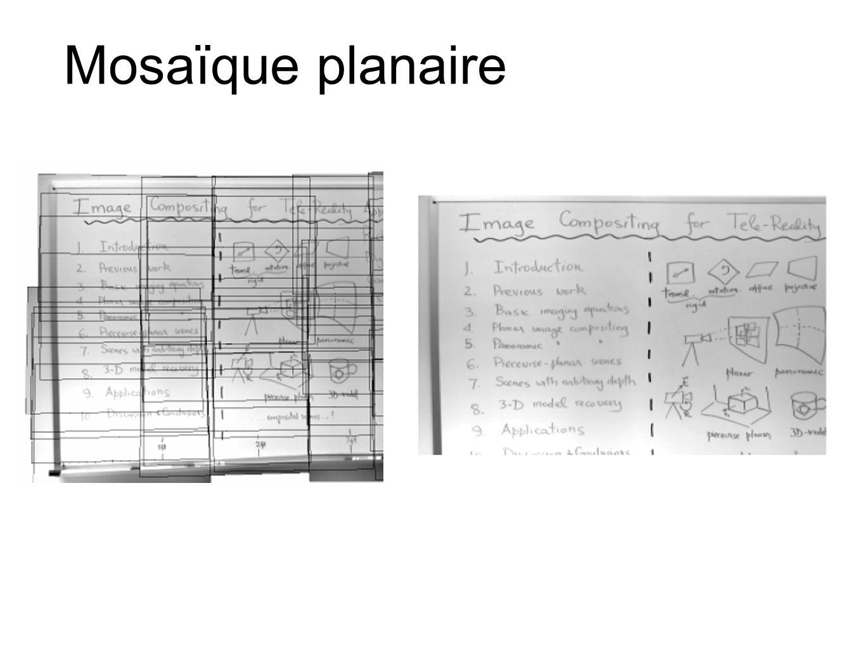 Mosaïque planaire