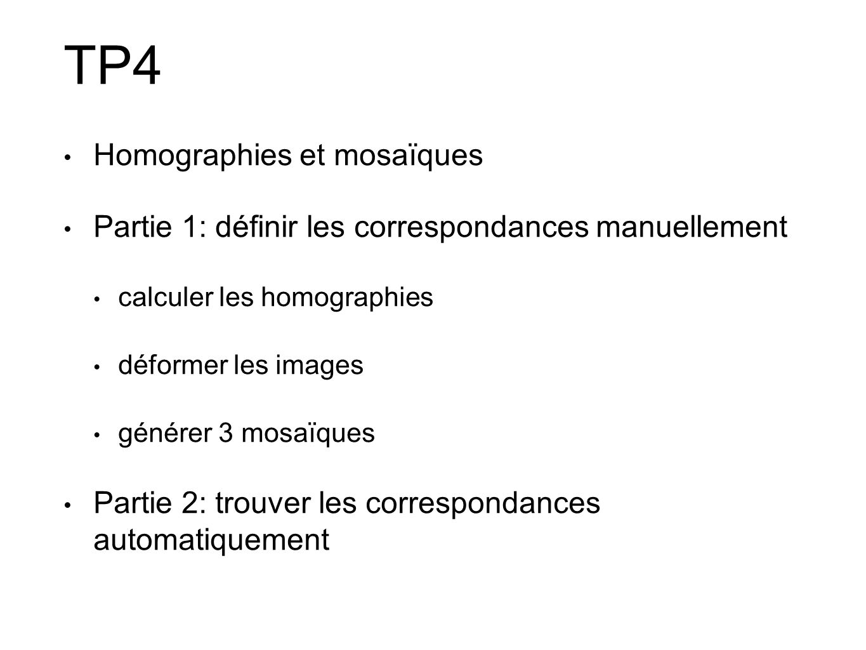 TP4 Homographies et mosaïques