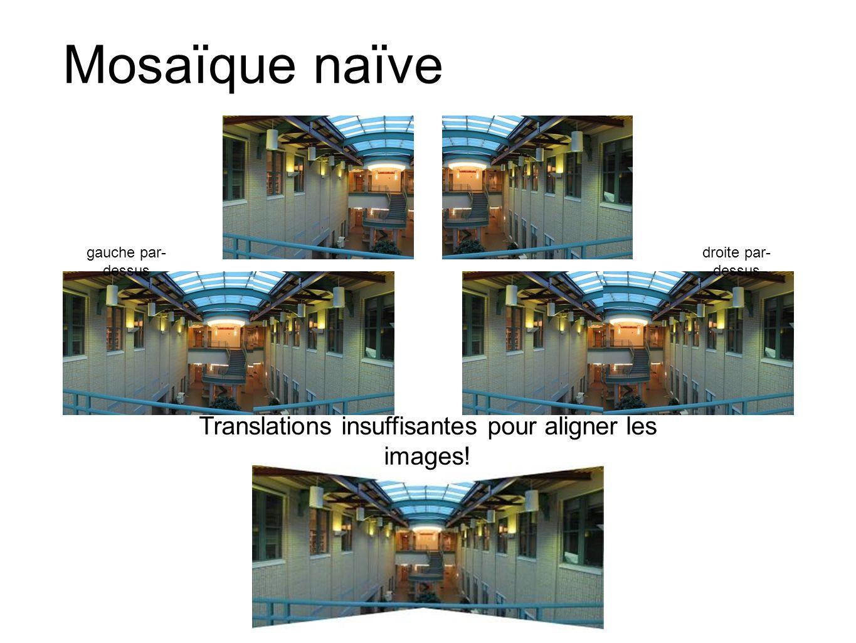 Translations insuffisantes pour aligner les images!