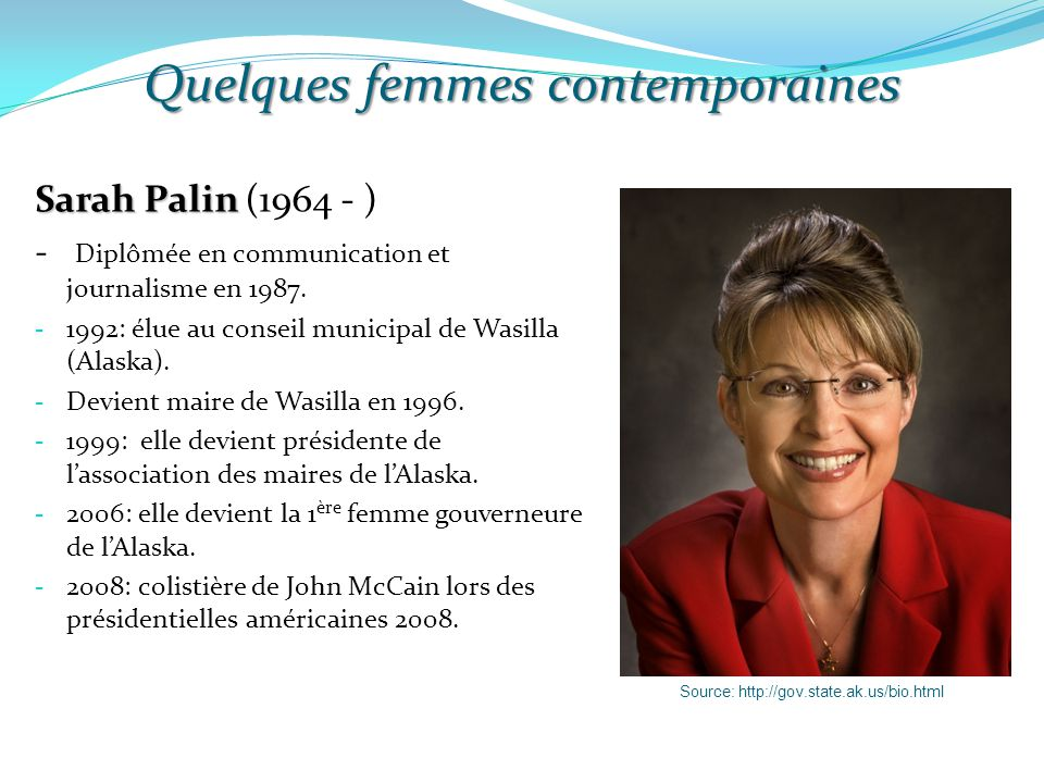 Quelques femmes contemporaines