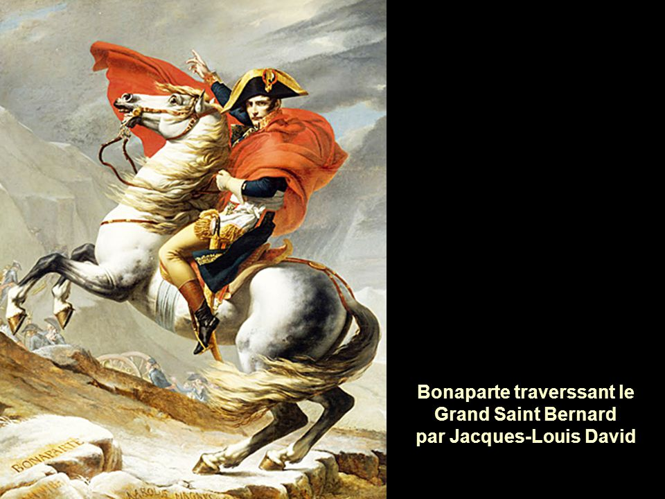 Bonaparte traverssant le Grand Saint Bernard par Jacques-Louis David