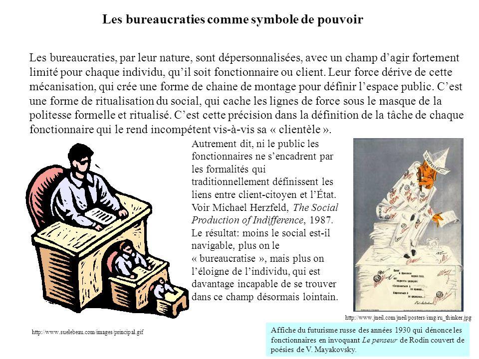 Les bureaucraties comme symbole de pouvoir