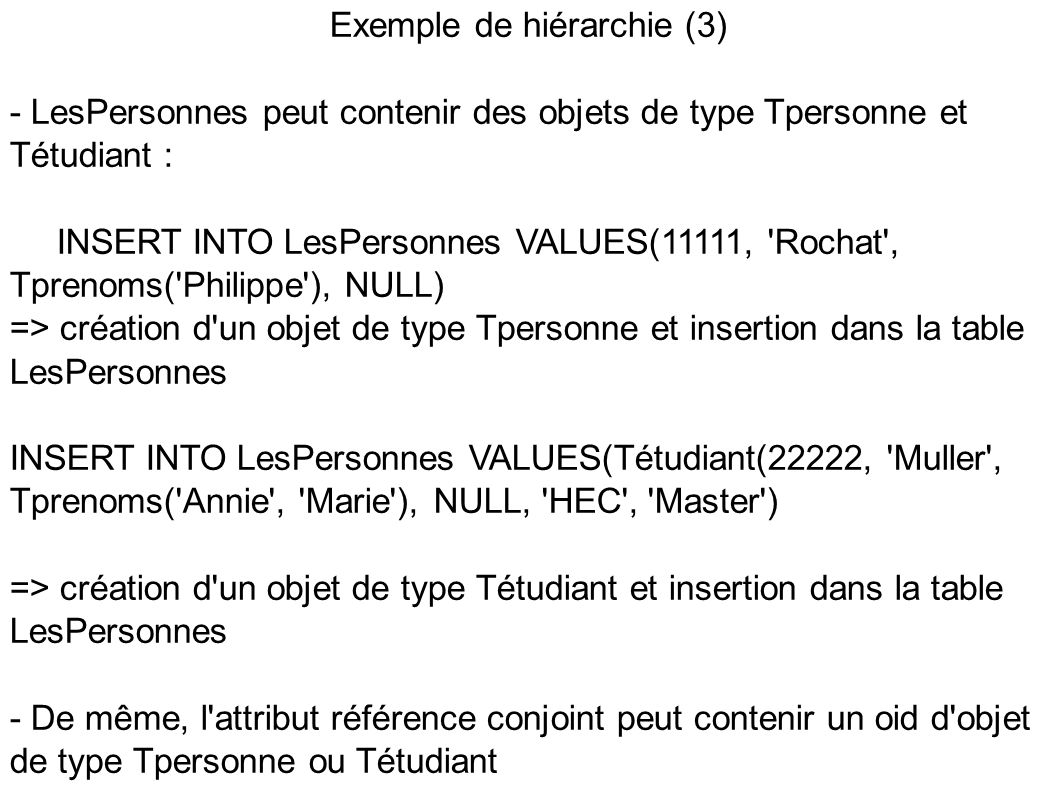 Exemple de hiérarchie (3)