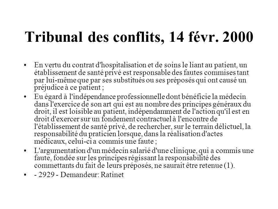 Tribunal des conflits, 14 févr. 2000