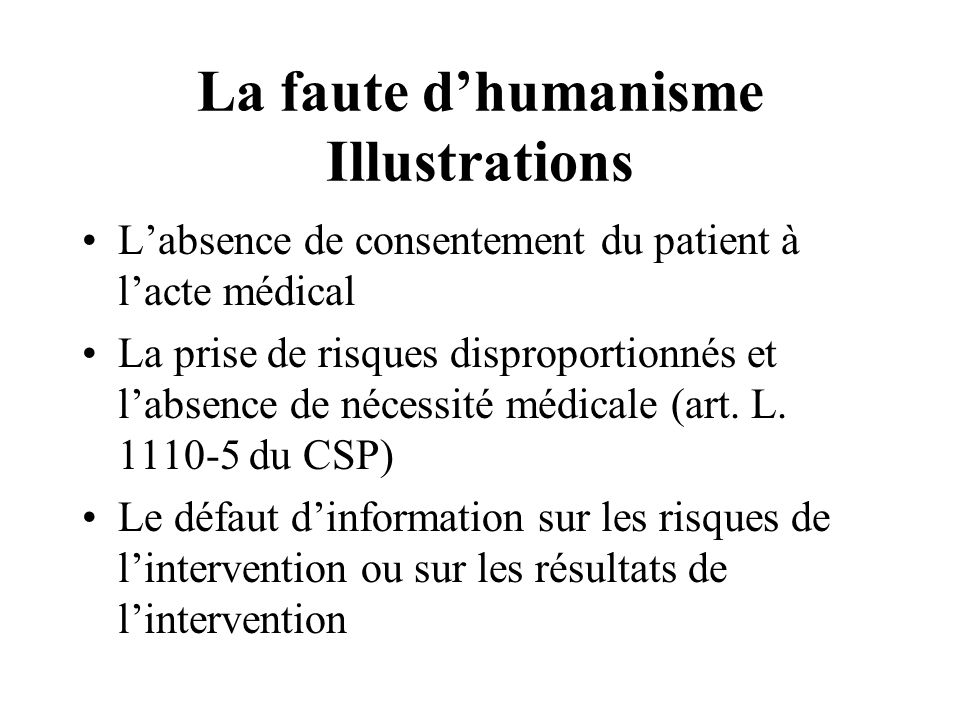 La faute d'humanisme Illustrations