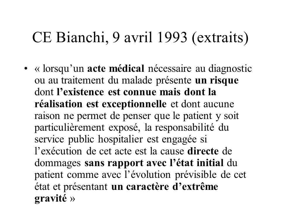 CE Bianchi, 9 avril 1993 (extraits)