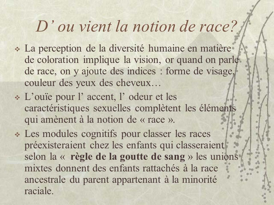 D' ou vient la notion de race