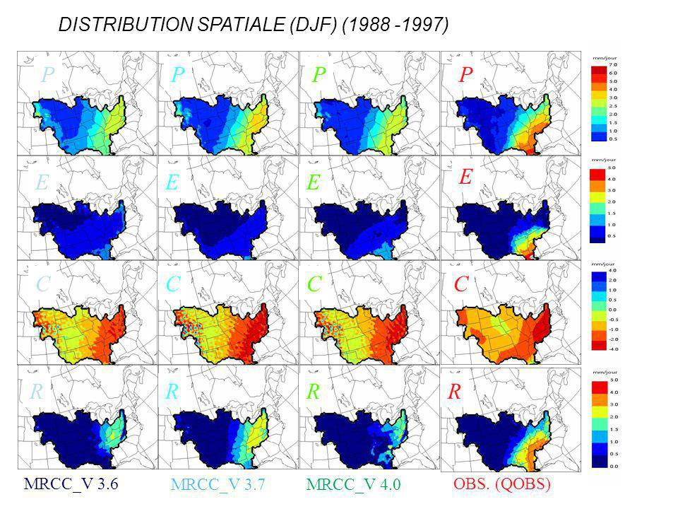 DISTRIBUTION SPATIALE (DJF) (1988 -1997)