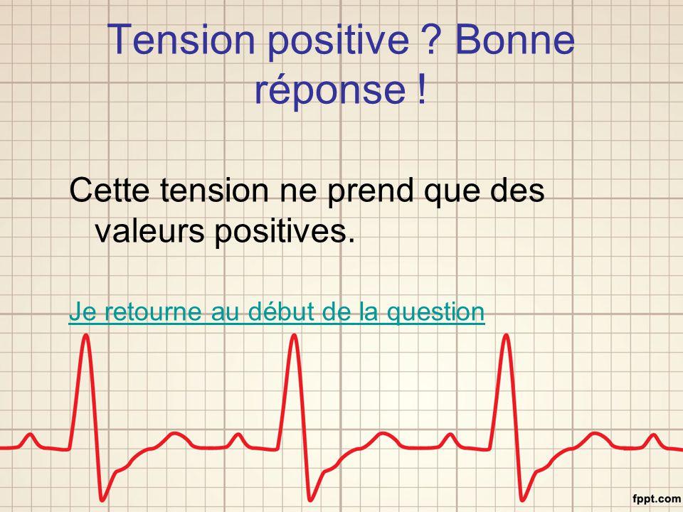 Tension positive Bonne réponse !